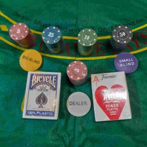 קלפים ואביזרים מקצועיים למשחקי פוקר רמי ברידג'